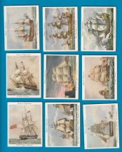 Collectable Tobacco cigarette cards set Old Naval Prints 1936 set of 25